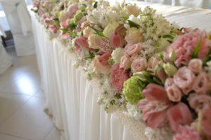 квіти на стіл наречених