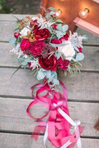 весільний букет марсала