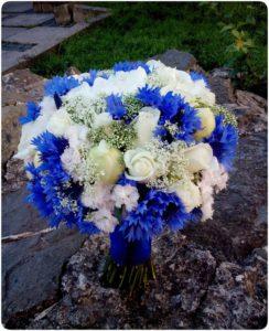 весільний букет синій
