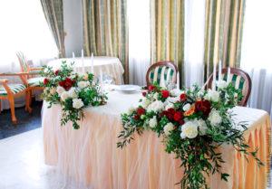 оформлення столу наречених